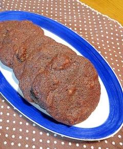 チョコレートとナッツのココアクッキー