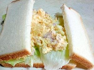 芋玉レタスサンドイッチ