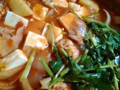 ★ほうれん草と豆腐たっぷりのトマト鍋★