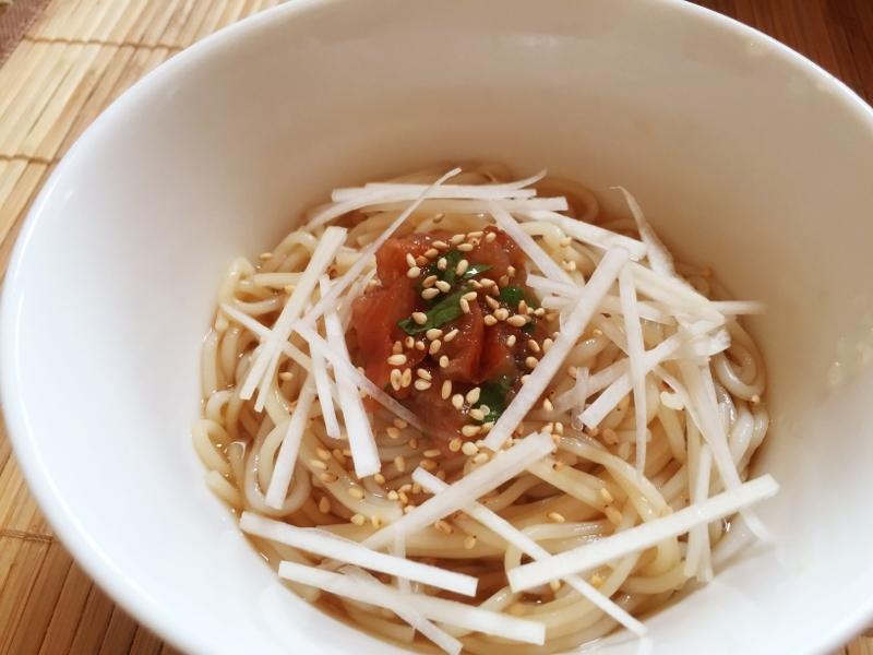たたき梅うーめん(温麺) レシピ・作り方 by たかまさ20010911|楽天レシピ
