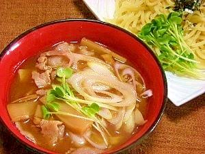 豚バラ肉で☆つけ麺のタレ