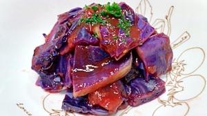 紫キャベツのトマト煮