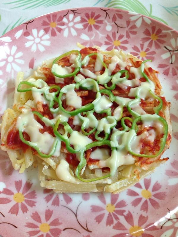 節約♪節約♪じゃがいもピザ(*^^*)☆