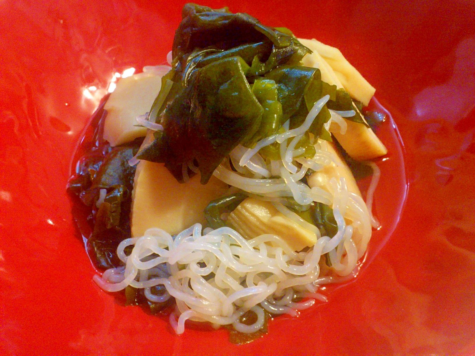 ダシを味わう優しい副菜☆たけのこワカメ煮