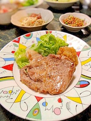 簡単主菜★豚肉のソテー山椒おろしソース