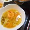 キムチ+レモンでさっぱりスープ ヾ(*´∀`*)ノ