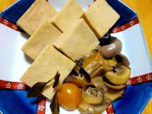 旨みたっぷり!つぶ貝と高野豆腐の含め煮