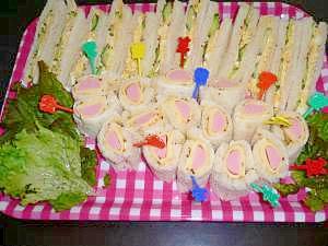 ひな祭り☆おもてなしサンドイッチ!