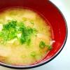 玉ねぎ 豆腐 麩の味噌汁♡