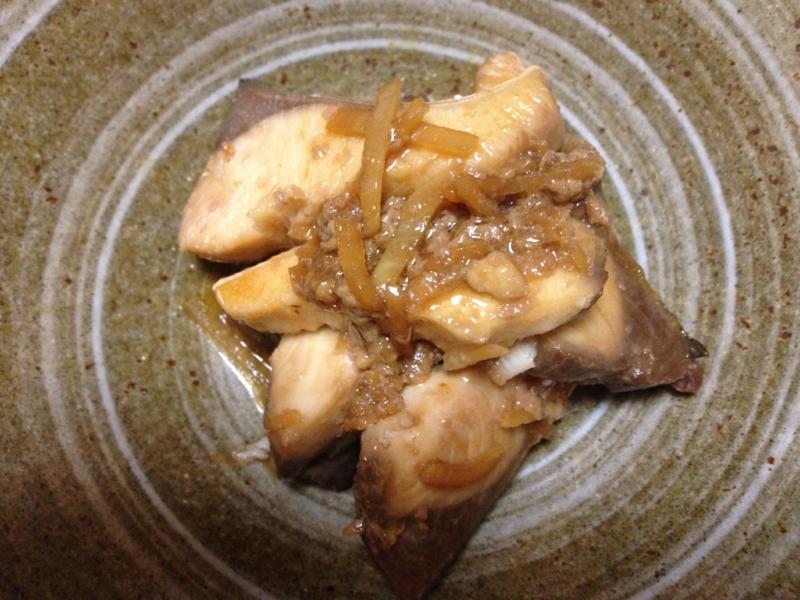 ハマチの生姜味噌煮