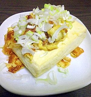 焼き卵豆腐…卵焼き豆腐… とにかく豆腐と卵を焼く!