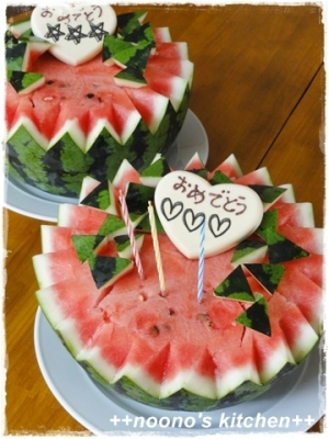 夏お誕生日に☆まるごとすいかケーキ!