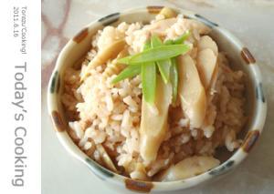 笹竹の炊飯器を使った、炊き込みご飯!