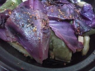 紫キャベツのホットサラダ