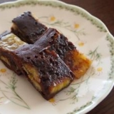 ココア&バナナ蒸しケーキ