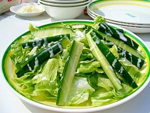 BBQにおすすめ★簡単フレンチグリーンサラダ