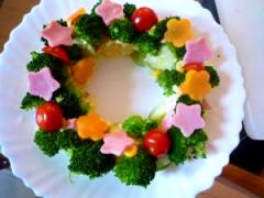 クリスマス☆ブロッコリー de リースサラダ