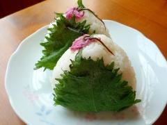 桜香る✿桜おにぎり