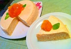 ネクタリンのフレッシュレアチーズケーキ