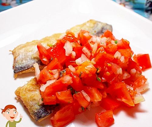 トマトとサンマ♪ サンマ de サルサ