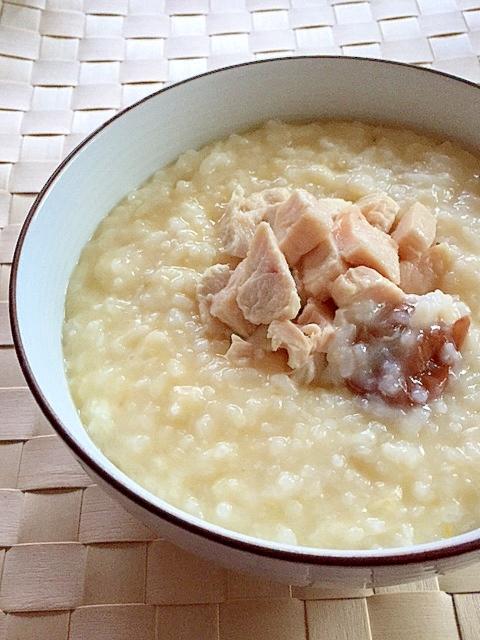 冷ご飯で簡単に♪梅と塩鷄のおかゆ✿ レシピ・作り方 by はぁぽじ|楽天レシピ
