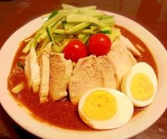 濃厚味噌タレ♪ 冷やし中華☆ やわらか鶏むね肉♪