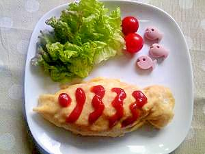 こどもの日に!鯉のぼりオムライス
