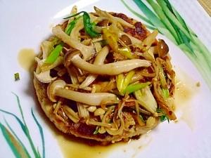 大豆ハンバーグ ~和風きのこソース~