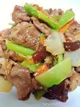 菊芋と豚肉の中華風★山椒炒め~♪