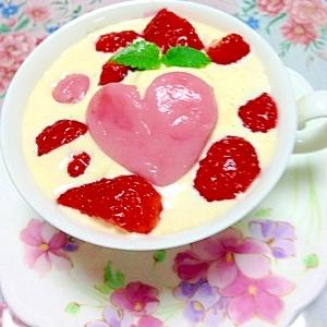 コーヒーぜんざい白玉ハート苺アイス