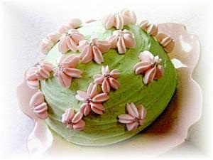 桜の山のムースケーキ