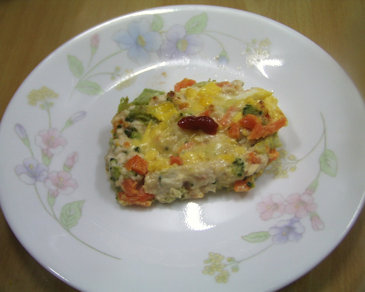 健康ヘルシー  鶏肉野菜ハンバーグ