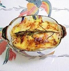玉葱とロースハムのパプリカ&ローズマリー焼き~