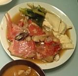 味のしみこんだお豆腐も美味しい、金目鯛の煮つけ★