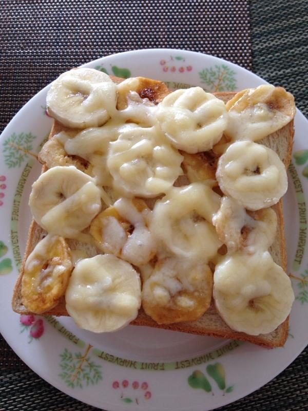バナナ大好きダブルバナナトースト