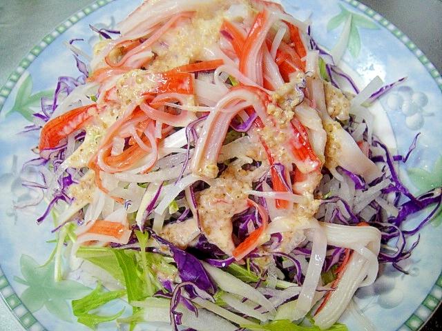大根と紫キャベツのサラダ