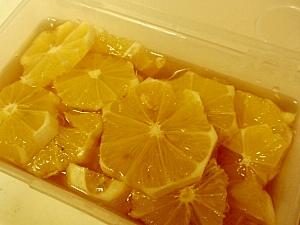 お風呂上がり、スポーツ後のはちみつレモンでチャージ