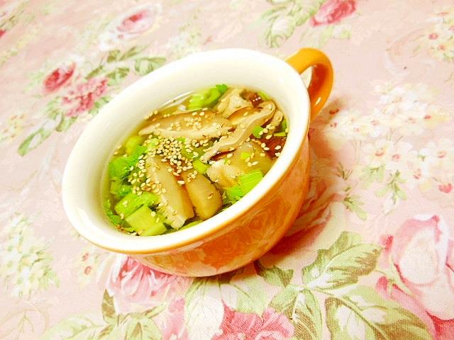 セロリ&どんこ&胡麻のスパイス・カレースープ