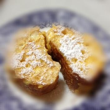 砂糖なし フランスパンのふわふわフレンチトースト