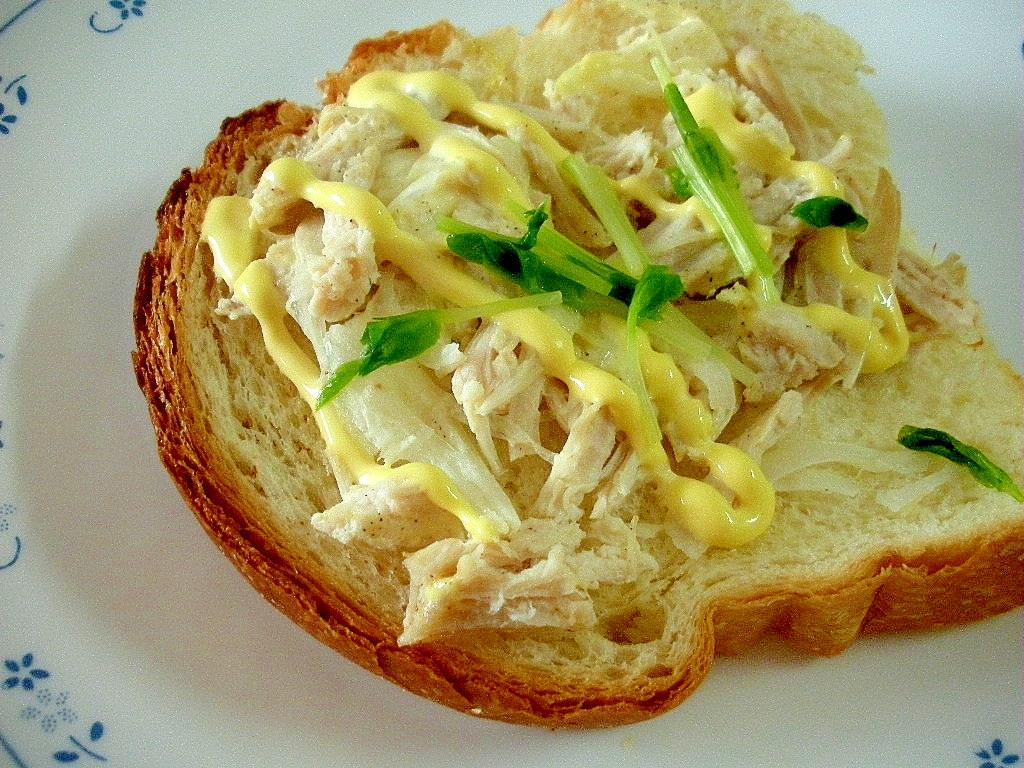 ☆鶏ハムと玉ねぎのマヨトースト☆