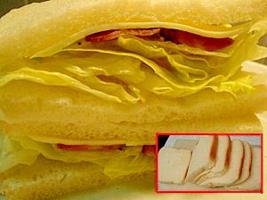 地味な食パンで満足サンド