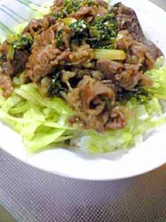牛肉☆セロリ 丼