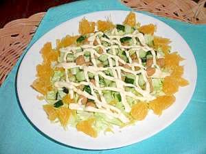ひよこまめといよかんの簡単サラダ!!