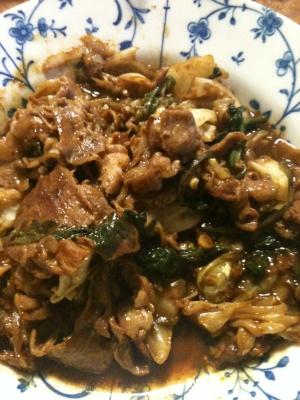 豚肩肉とキャベツの回鍋肉