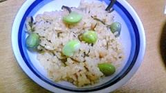 枝豆と塩こんぶの炊き込みご飯