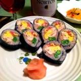 ふんわりササミ&もちもち十六穀米の巻き寿司