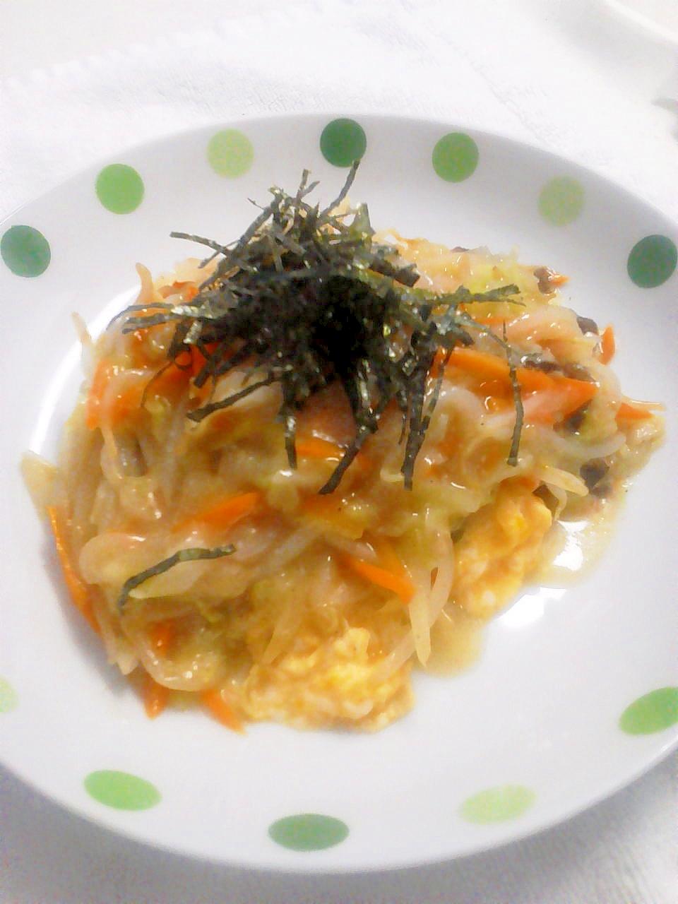 卵ともやしがメイン料理に♪ 天津飯風 野菜あんかけ レシピ・作り方 by ちっち0909|楽天レシピ