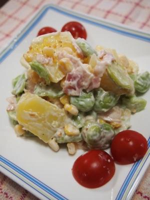 ☆簡単♪ そら豆とジャガイモのマヨサラダ☆