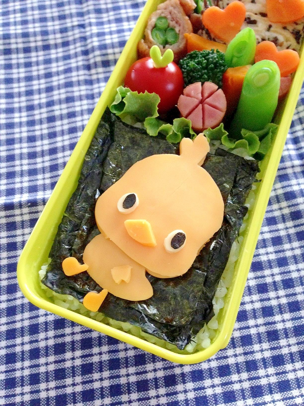 キャラ弁☆チキンラーメン ひよこちゃんのお弁当♪
