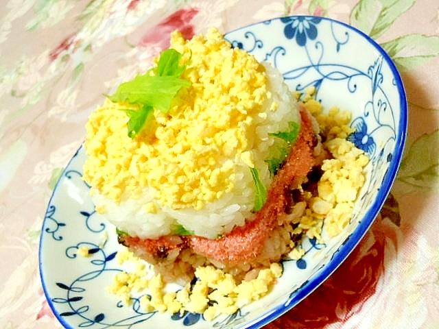 【お手伝いレシピ】赤飯と白ご飯の紅白お花ケーキ